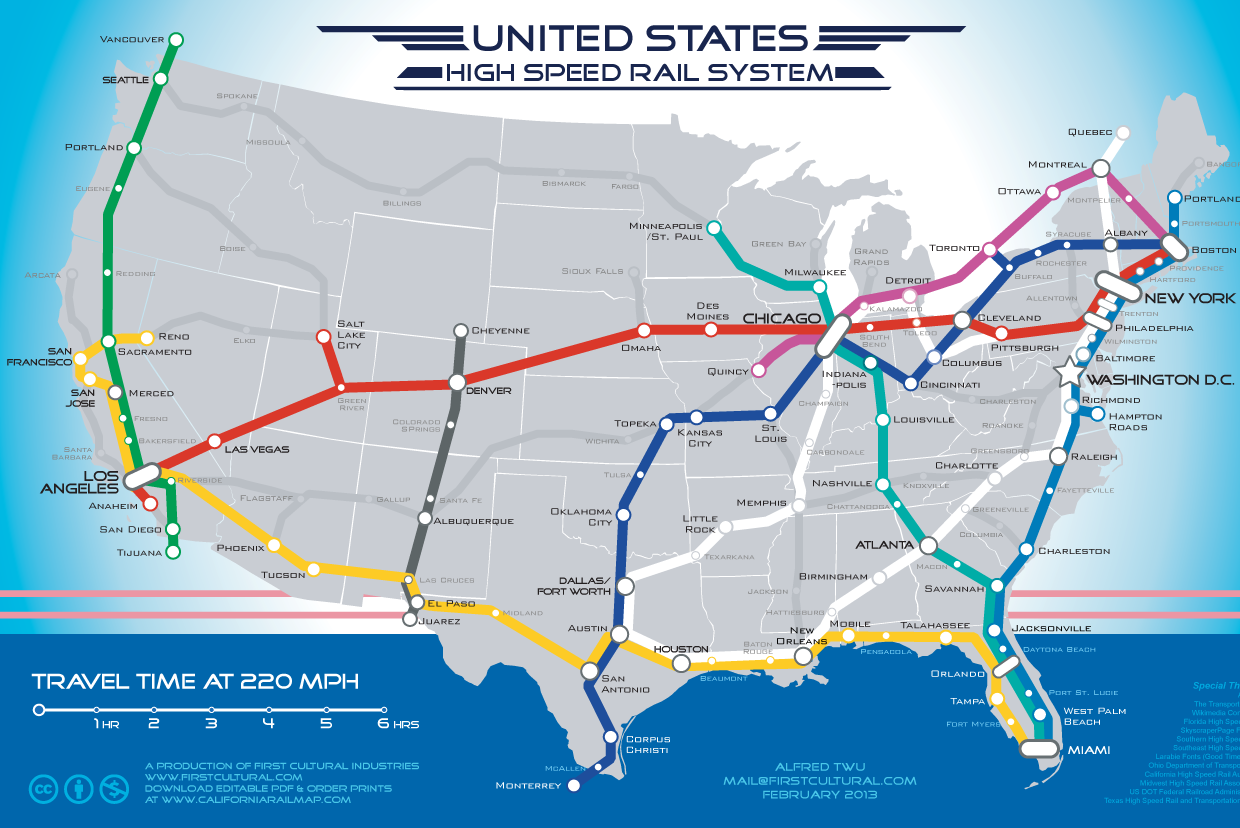 Us Railroad Map Uc Berkeley Map - Us railroad map 2015